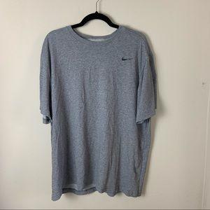 Nike Dri Fir Gray Mens Cotton Casual T Shirt XXL